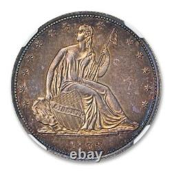 1838 Seated Liberty Half Dollar Pattern J-79 A NGC PR 64+ CAC Approved Ex 66