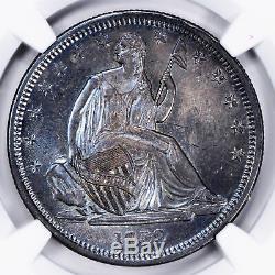 1839 Liberty Seated 50c Ngc Ms 66