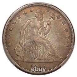 1840 50C Reverse of 1839 Liberty Seated Half Dollar PCGS VF35