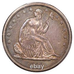 1840 50C Reverse of 1839 Liberty Seated Half Dollar PCGS XF45