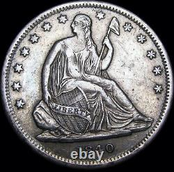 1840 Seated Liberty Half Dollar Type Coin US Coin - Nice Details - #D120
