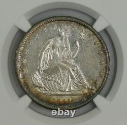 1841 Seated Liberty Half 50c AU55 NGC 944291-4