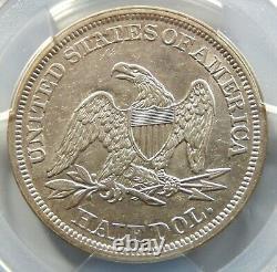 1842 Medium Date Seated Liberty Half Dollar PCGS Certified AU50