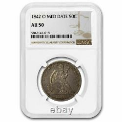 1842-O Seated Liberty Half Dollar AU-50 NGC (Medium Date) SKU#217389