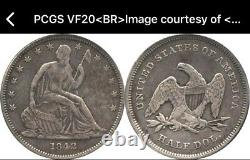1842 Seated Liberty Half Dollar Transitional Small Date Reverse Of 1839 Pcgs 20