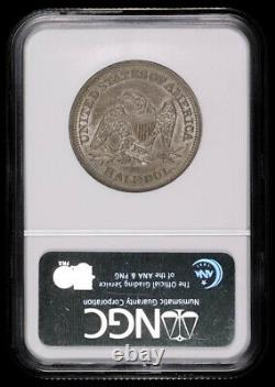 1842 Seated Liberty Silver Half Dollar Coin Medium Date Ngc Au58