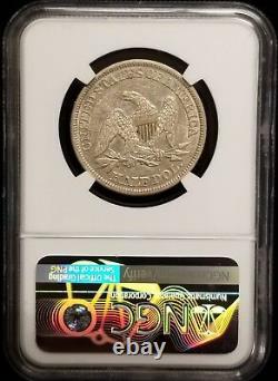 1843 Seated Liberty Half Dollar 50c NGC AU 53