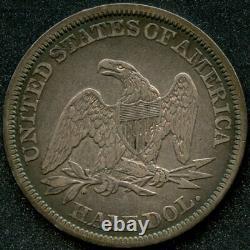 1843 (xf) 50c Seated Liberty Half Dollar