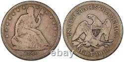 1844-O Doubled Date Seated Liberty 50c PCGS VG08 Very Original Almost Fine