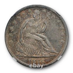 1846 50c Tall Date Seated Liberty Half Dollar NGC XF 45 Extra Fine to AU Tone