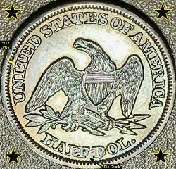 1847 Liberty Seated Silver Half Dollar Rpd (wb-104) Die Pair 6 Scarce Au