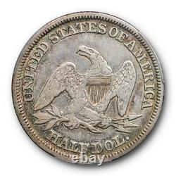 1848 50C Seated Liberty Half Dollar PCGS XF 40 Extra Fine Better Date