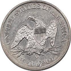 1848-o Liberty Seated Half Dollar Pcgs Au-50 Flashy