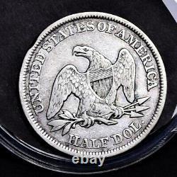 1850 Liberty Seated Half Dollar Ch VF (#32527)