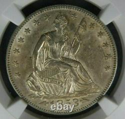 1853 Arrows NGC AU58 Seated Liberty Half Dollar About Uncirculated US Type Coin