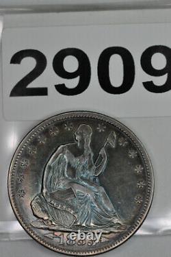 1853 Liberty Seated Half Dollar Arrows and Rays Choice AU Toned