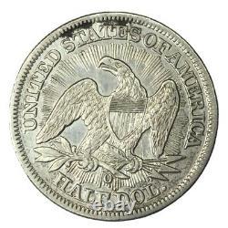 1853-O 50C Seated Liberty Half Dollar Arrows & Rays AU #