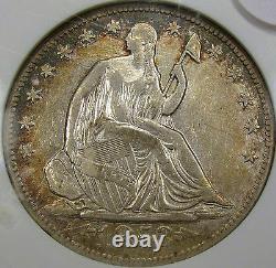 1853-O Arrows and Rays Seated Liberty Half Dollar ANACS AU Details. NICE COIN