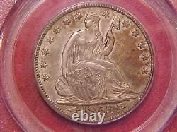 1853 O Seated Liberty Half Dollar Pcgs Au55 Arrows And Rays (g525)