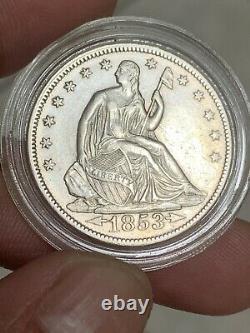 1853 SEATED LIBERTY HALF DOLLAR ARROWS & RAYs