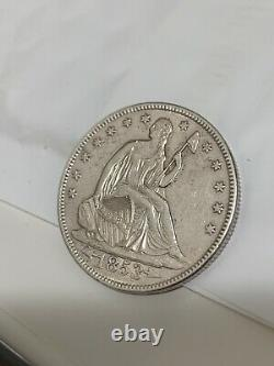 1853 SEATED LIBERTY HALF DOLLAR ARROWS & RAYs AU details Beautiful