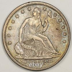 1853 Seated Liberty Half. Arrows. Beautiful Color. XF-AU. 151938