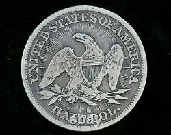 1853 Seated Liberty Half Dollar Arrows & Rays Philadelphia Mint Silver 50c Coin