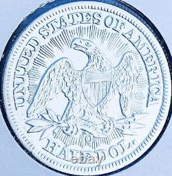 1853-o Brilliant Uncirculated Key Date! U. S. Seated Liberty Half Dollar. E4
