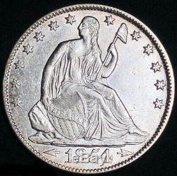 1854 O Seated Liberty Half Dollar With Arrows Scarce Old Coin