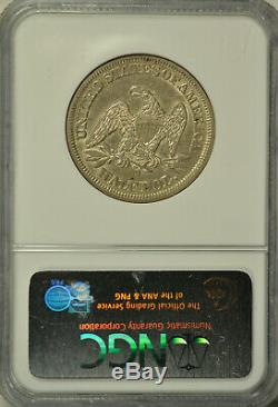 1854 O Seated half dollar, Arrows, NGC AU55