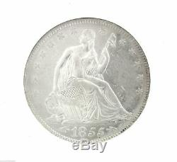 1855/54 SS Republic Shipwreck 50C Arrows Seated Liberty NGC Half Dollar Coin