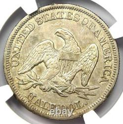 1855 Arrows Seated Liberty Half Dollar 50C Coin Certified NGC AU Details