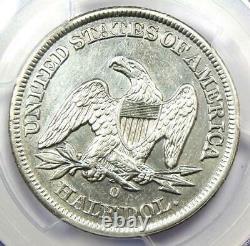 1855-O Arrows Seated Liberty Half Dollar 50C PCGS AU Details Rare Date Coin