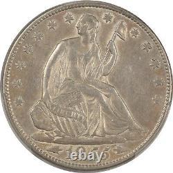 1855-o Liberty Seated Half Dollar Arrows, Pcgs Xf-45, Looks Au