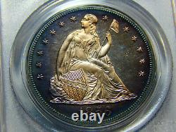 1856 $1 Proof Seated Liberty Dollar PR-63 PCGS, Cameo Obverse! Only 50 Minted