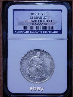 1856-O 50c Seated Liberty Half Dollar SS REPUBLIC Shipwreck Coin