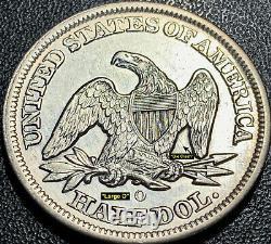 1856-o Liberty Seated Silver Half Dollar Wb-6 (r4) Very Scarce