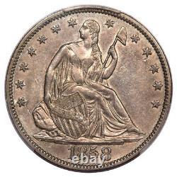 1858 50C Liberty Seated Half Dollar PCGS AU55