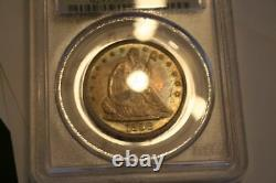 1858 50C Liberty Seated Half Dollar PCGS GRADED MS-63 NICE COLOR TONING