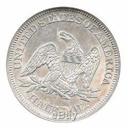 1858 Liberty seated Half Dollar, NGC MS 61