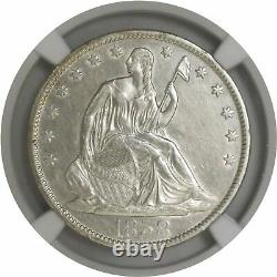 1858 O 50C Seated Liberty Half Dollar Silver NGC AU Details Cleaned Coin