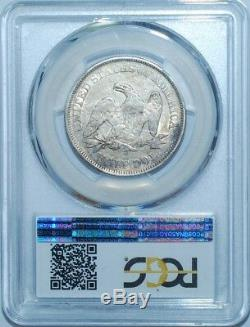 1858 O PCGS AU50 WB-101 Seated Liberty Half Dollar