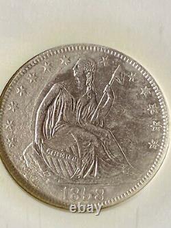 1858-O SEATED LIBERTY SILVER HALF DOLLAR-SS REPUBLIC SHIPWRECK-NGC-Treasure