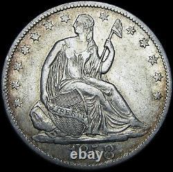 1858-O Seated Liberty Half Dollar - Type Coin Silver Stunning - #J505