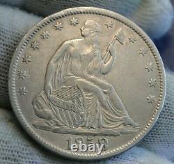 1858-O seated liberty half dollar 50 Cents, Nice Coin, Free Shipping (9693)