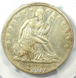 1858 Seated Liberty Half Dollar 50C Coin Certified PCGS AU Details