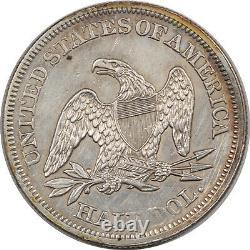 1858 Seated Liberty Half Dollar High Grade Nearly Uncirc Looks Choice