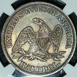 1858-p Seated Liberty Half Dollar Ngc Ms-60 50c Silver Unc L@@k Trusted