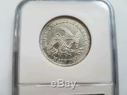 1859 O SS Republic Seated Liberty Half Dollar NGC Shipwreck Silver Treasure Coin