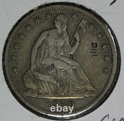 1859-S Seated Liberty Half Dollar! Very Fine Details Graffiti on Obverse